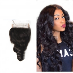 Brazilian Loose Wave Lace Closure 4x4 New