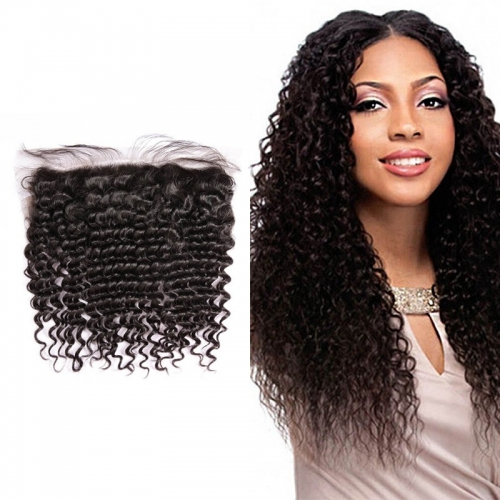 Brazilian Jerry Curly Lace Frontal 13x4