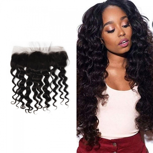Brazilian Loose Curly Lace Frontal 13x4