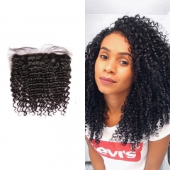 Brazilian Brazil Curly Lace Frontal 13x4