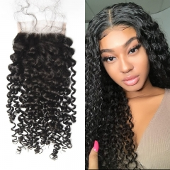 Brazilian Jerry Curly Lace Closure 4x4 New