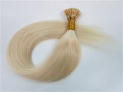 Straight 60# Platinum Blonde I-tip Hair Extensions 100Strands