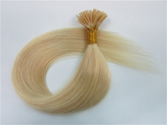 Straight 613# Bleach Blonde I-tip Hair Extensions 100Strands