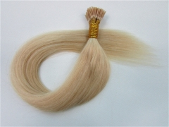 Straight 24# Pale Blonde I-tip Hair Extensions 50Strands