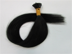 Straight 1# Jet Black I-tip Hair Extensions 50Strands