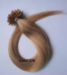 Straight 27# Ginger Blonde Nail-tip Hair Extensions 100Strands
