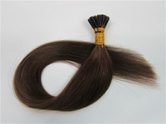 Straight 4# Medium Brown I-tip Hair Extensions 50Strands