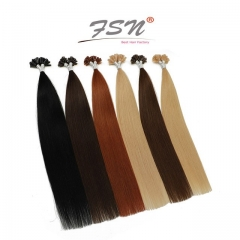 Straight Nail-tip Hair Extensions High End Quality 11 Colors