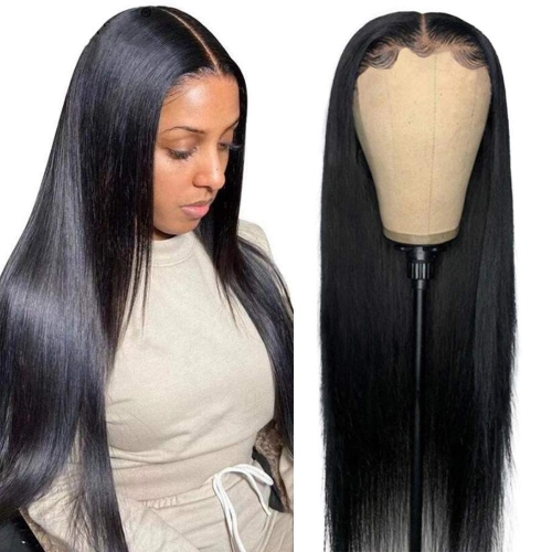 Straight Human hair 13x6 Lace Front Wigs