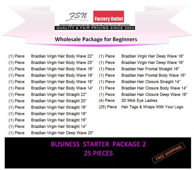 Virgin hair package 2 for business beginners