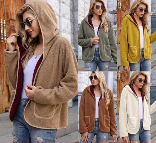 Bubble fleece casual Hooded Sweater Top
