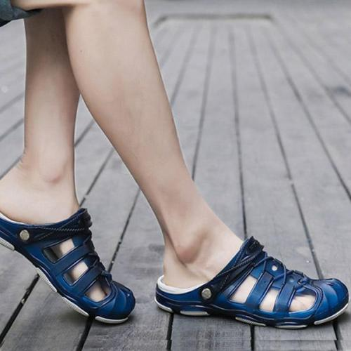 Mens Breathable Hollow Out Jelly Shoes Outdoor Summer Sandals