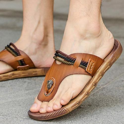Mens Casual Summer Flip Flops Clip Toe Beach Slippers
