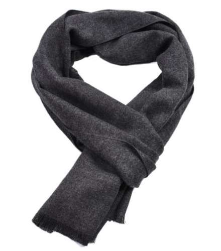 Autumn and winter solid color cashmere double-sided yarn-dyed scarf