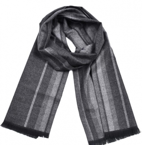 British gentleman color woven cotton striped tassel scarf