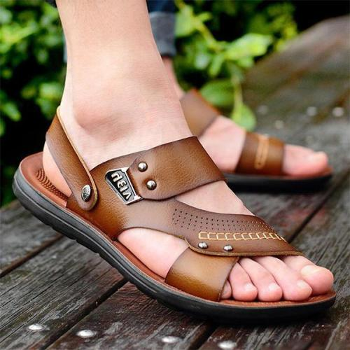 Mens Casual Beach Sandals Non-slip Soft Sole Sandals