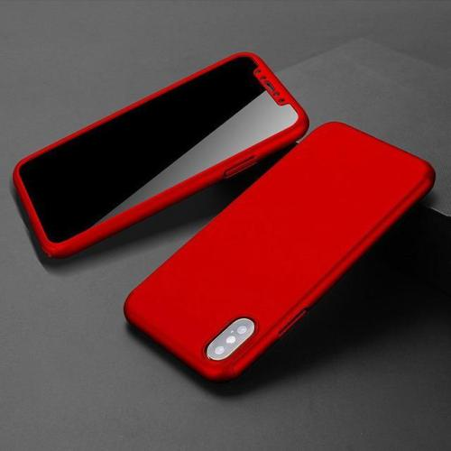 360° Full Protective Case with Tempered Glass For iPhone