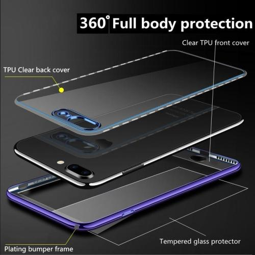 360 Full Silicone Clear Transparent Cases for iphone
