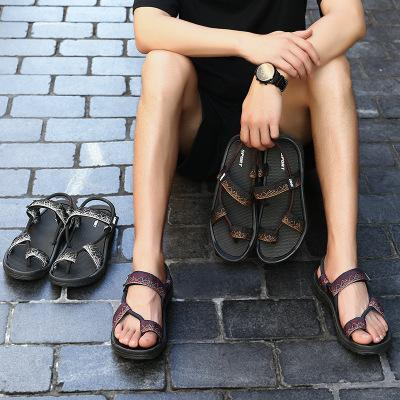 Mens Summer Casual Clip Toe Flat Sandals