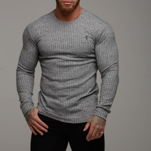 New Sports Casual Men's Slim Long-sleeved T-shirt