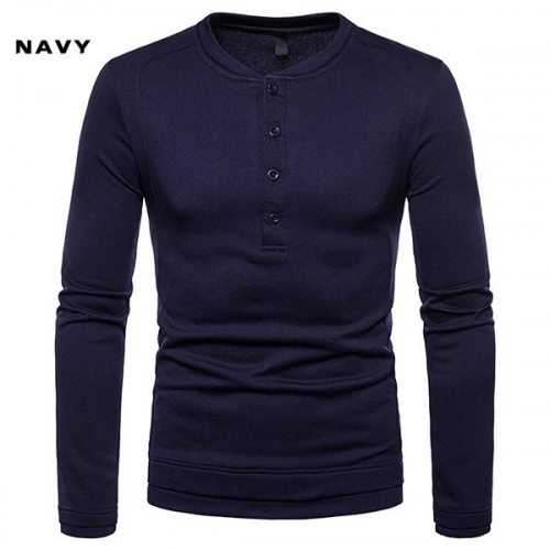 Henry Collar Long Sleeve T-Shirt