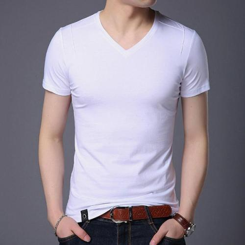 Men's Fashion Solid Color Short Sleeve T Shirt