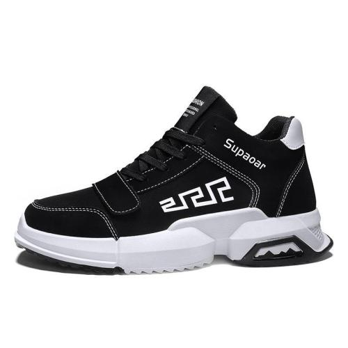 Fashion casual men's printed low-heel sneakers wq09