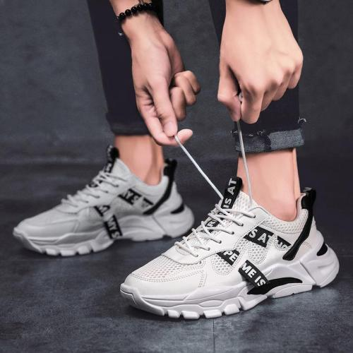 Fashion sports breathable mesh lace up men's shoes DWQ35