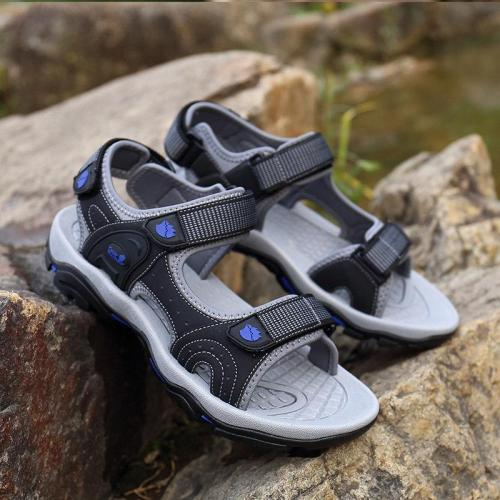 Mens Outdoor Hook Loop Non-Slip Hiking Sandals