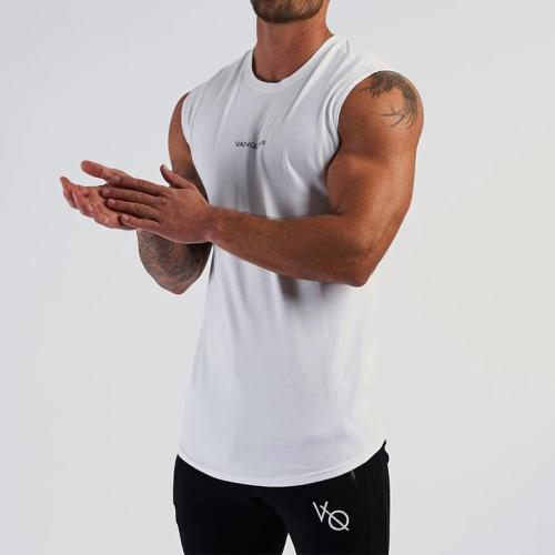 Summer Mens Casual Sleeveless Round Neck T-Shirts