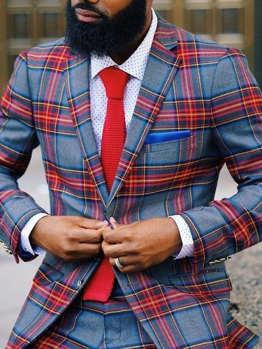 Casual Color Block Single-Breasted leisure Suit