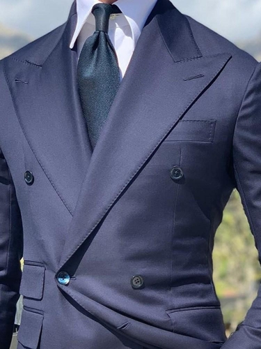 Fashion Double-Breasted Slim leisure Suit