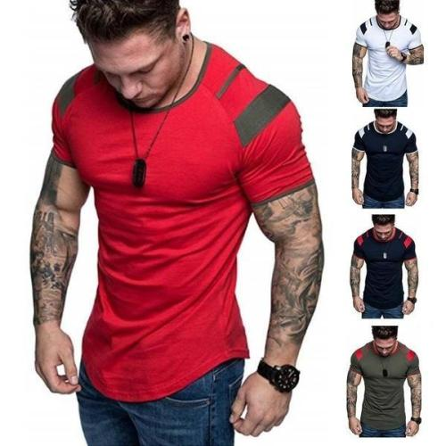 Men Fashion Sports Casual Fitness Short Sleeve T-shirts