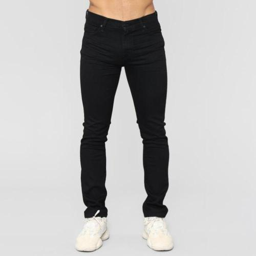 Casual Solid Denim Pants Jeans
