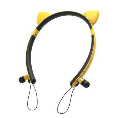 Kawaii Cat Ears Hair Band Bluetooth Music In-Ear Eeadphones