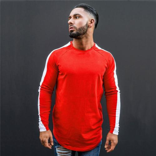 Men's  Slim Casual Long-Sleeved Pullover T-shirt