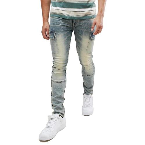 Casual Mid Waist Solid Jeans