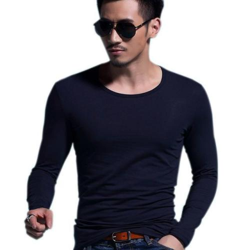 Men's O-neck Slim Long Sleeve Pullover T-Shirt