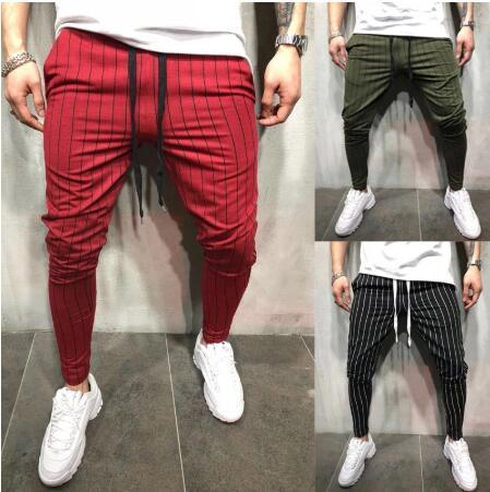 New Men's Slim Individual Leisure Sports Stripe Design Jogging Pants