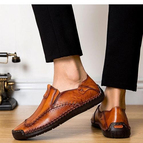 Handmade casual leather feet men's shoes