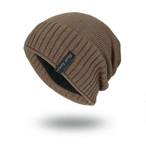 Mens Solid Knitted Skullies Beanie Warm Outdoor Casual Cap