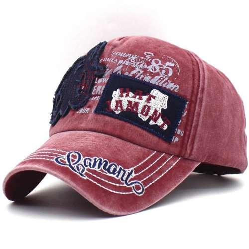 Mens Patch Embroidered Sunshade Snapback Hats Baseball Cap