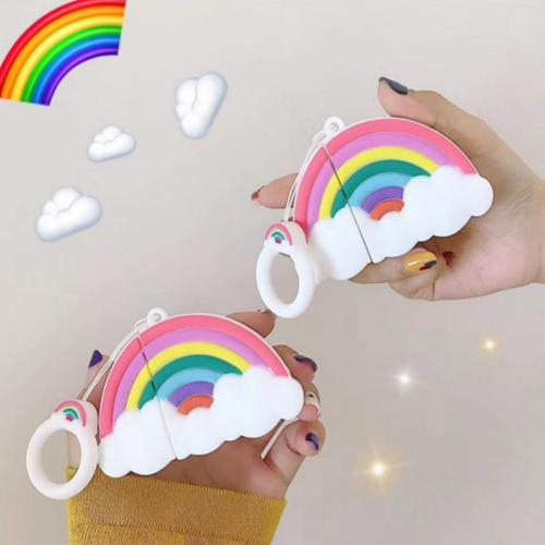 Rainbow AirPods Case Silicone Shockproof Cover