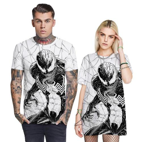 3D Venom Spider Printed Funny Men T-shirt Loose Casual Novelty Short Sleeve Tees Top