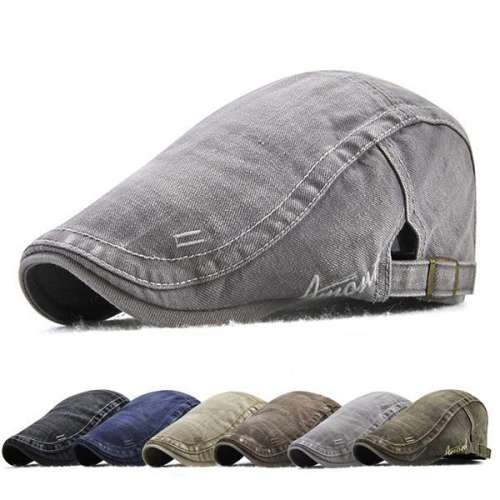 Mens Cotton Outdoor Sunshade Newsboy Cabbie Hat Beret Cap