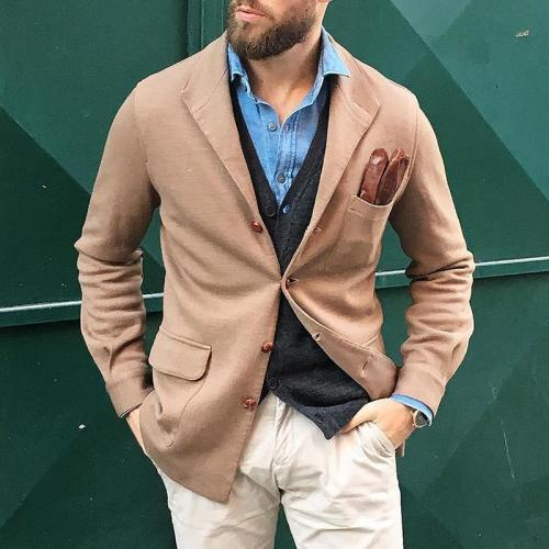 Business Commuting Single-Breasted Blazer