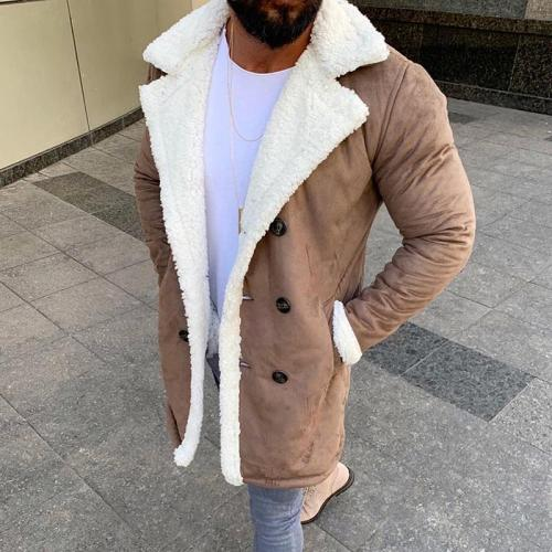 Fashion Double-Breasted Mid-Length Woolen Coat