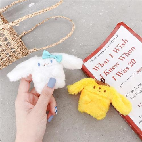 Kawaii Giraffe and Dog Plush Doll Winter AirPod Case