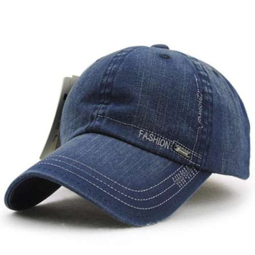 Denim Adjustable Blank Snapback Trucker Baseball Cap
