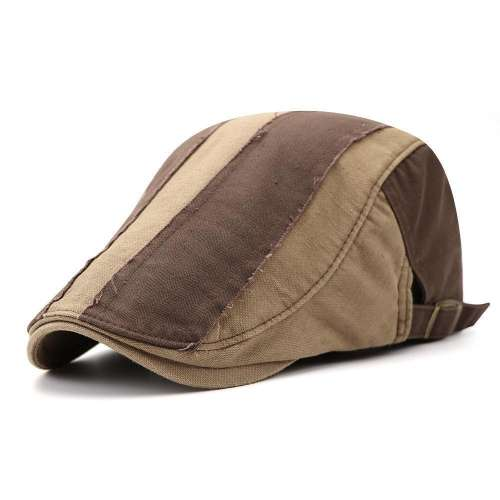 Mens Vintage Vogue Adjustable Beret Hat Outdoor Cowboy Cap